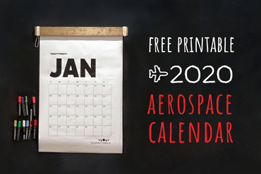 DIY Minimalist Industrial 2020 Aerospace Calendar